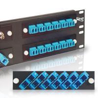 6 Simplex NEW Black ICFOPT16BK ICC Fiber Adapter Panel Metal