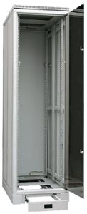 CS cabinet,  width 600 mm (23,6'), with glass door, RAL 7035
