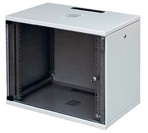 CU cabinet 10U high with safety glass door