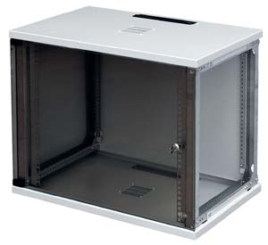 CU cabinet 4U high with safety glass door