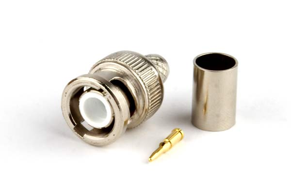 BNC male crimp type connector