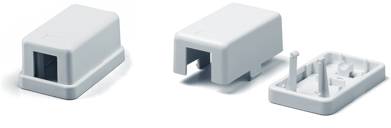 Surface Mount Housing, Single, White