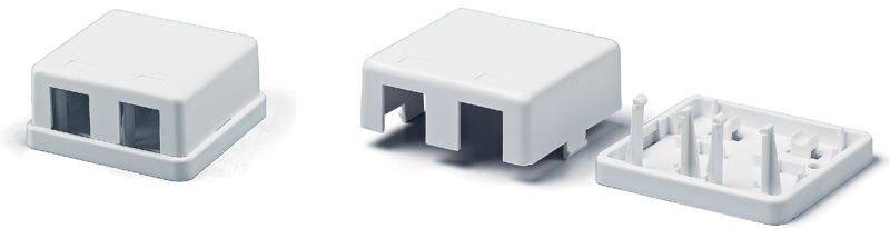 Surface Mount Housing, Dual, White