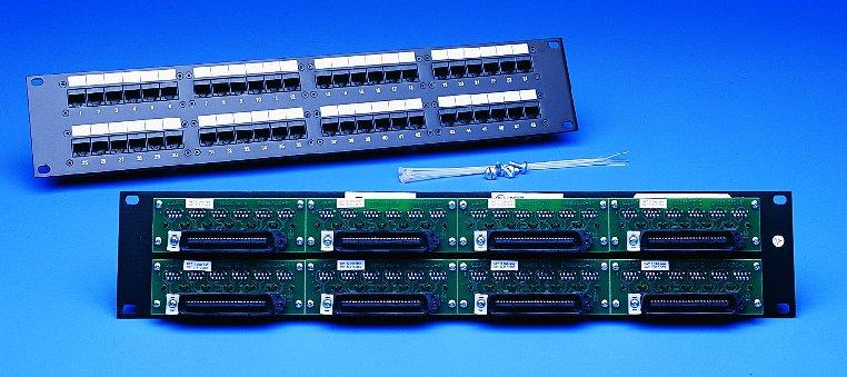 48 port cat6 rack mount patch panel 2u | computer cable store.